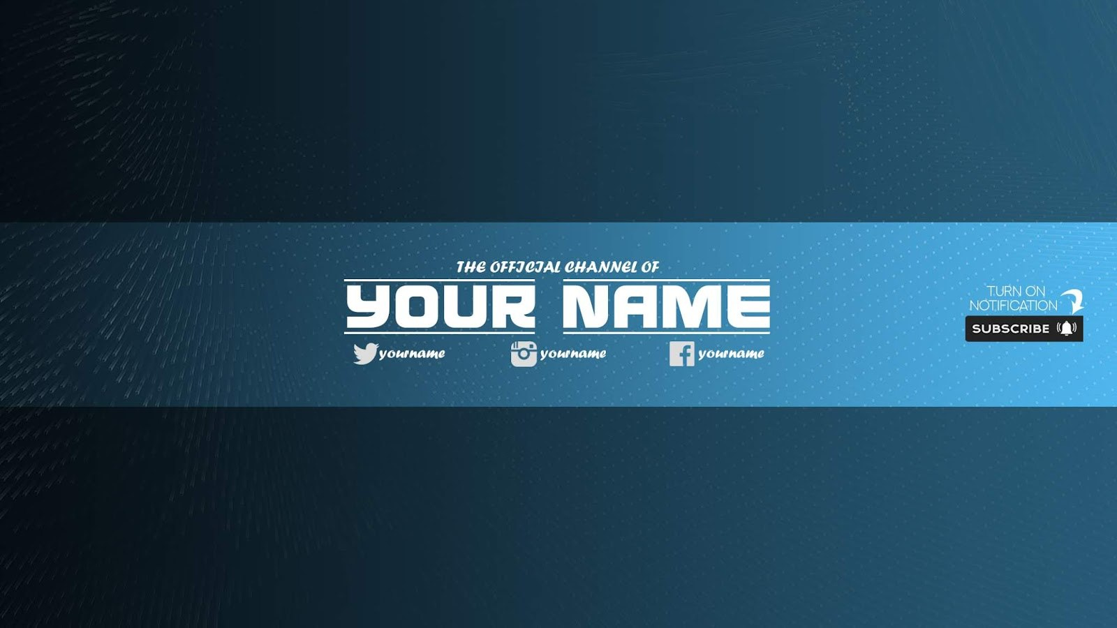 Zuhair Baloch Free Youtube Banner Template  Download Now For In Yt Banner Template