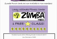 Zumba Business Card Template Free Inspirational Zumba Punch Card with Business Punch Card Template Free