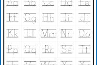 Alphabet Letter Tracing On Primary Writing Lines  Alphabet intended for Tracing Letters Template