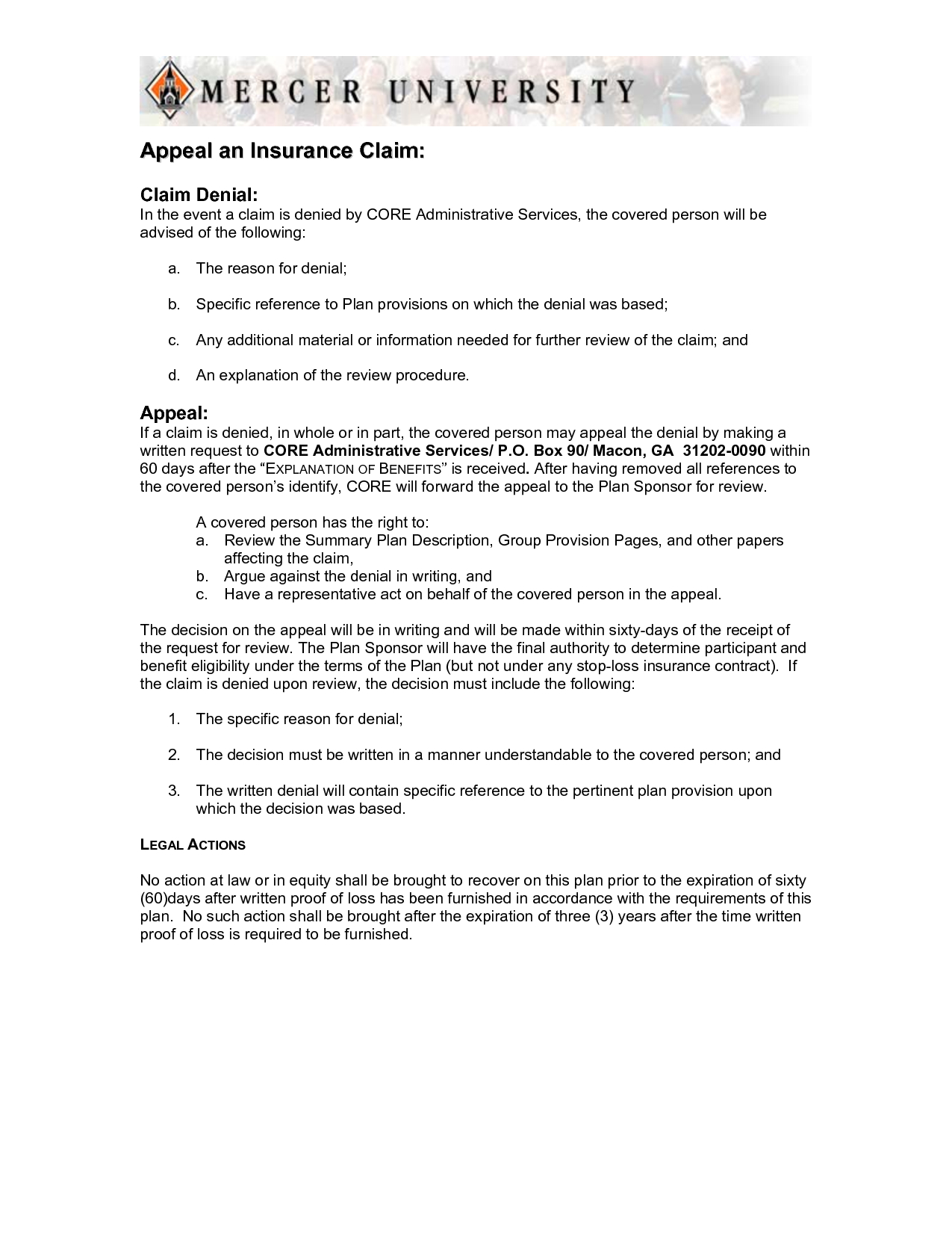 Appeal Letter Sample Medical Claim And Insurance Denial Form Regarding Insurance Denial Appeal Letter Template
