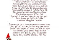 Awesome Elf On The Shelf Letter From Santa Template  Wwwpantry pertaining to Elf On The Shelf Letter From Santa Template