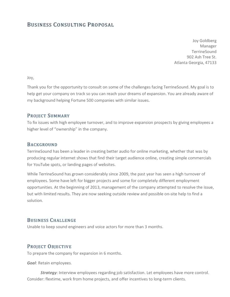 Best Consulting Proposal Templates Free ᐅ Template Lab Pertaining To Consultant Proposal Template