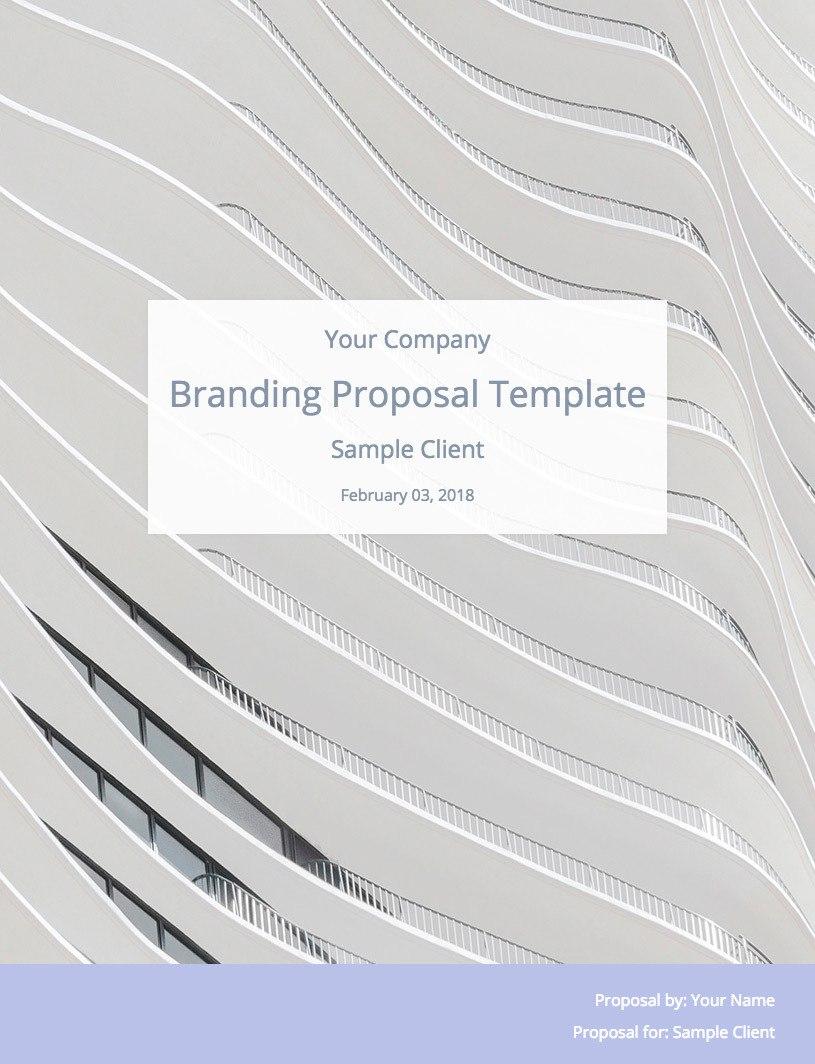 Branding Proposal Template  Bidsketch In Branding Proposal Template
