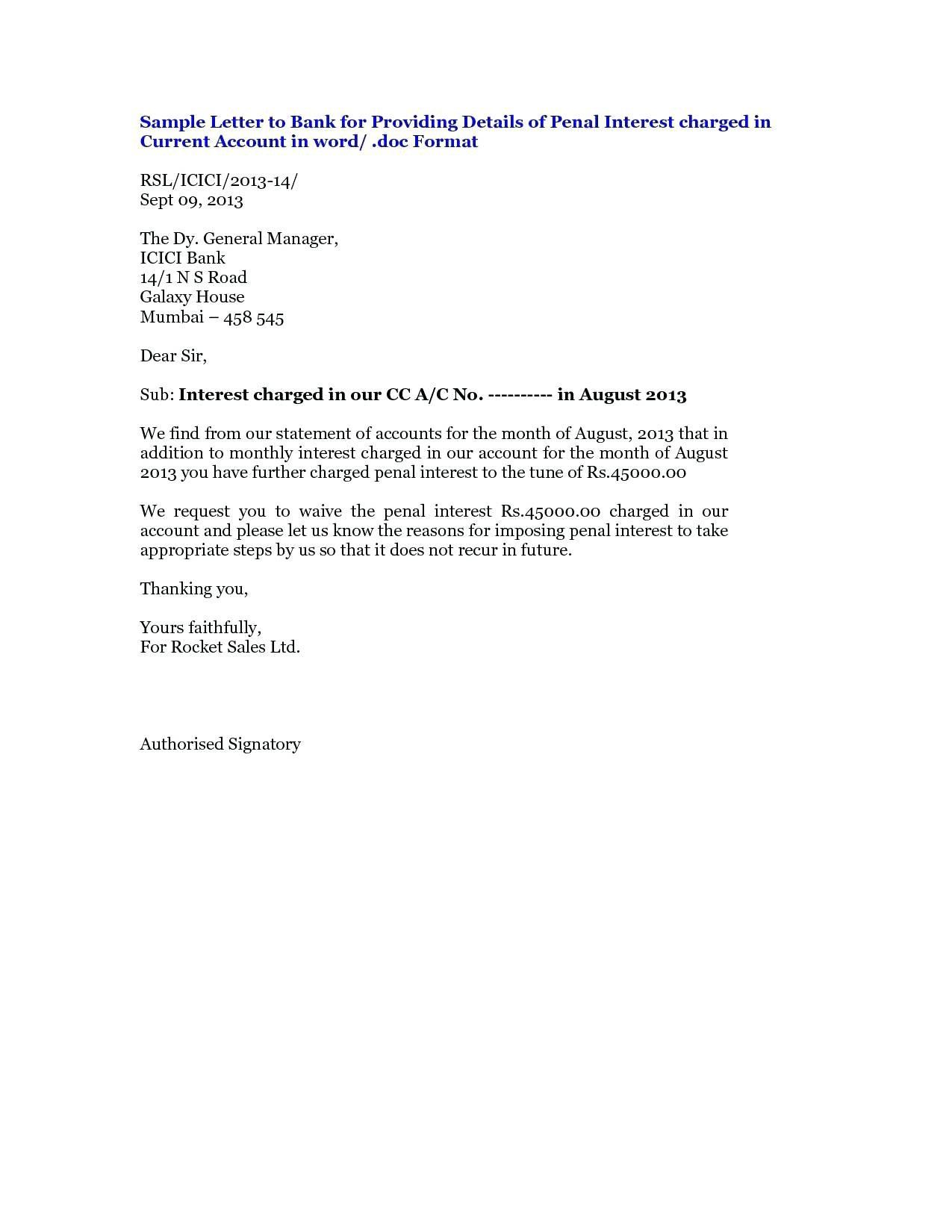 Business Correspondence Complaint Letter Example For Road Closure For Account Closure Letter Template