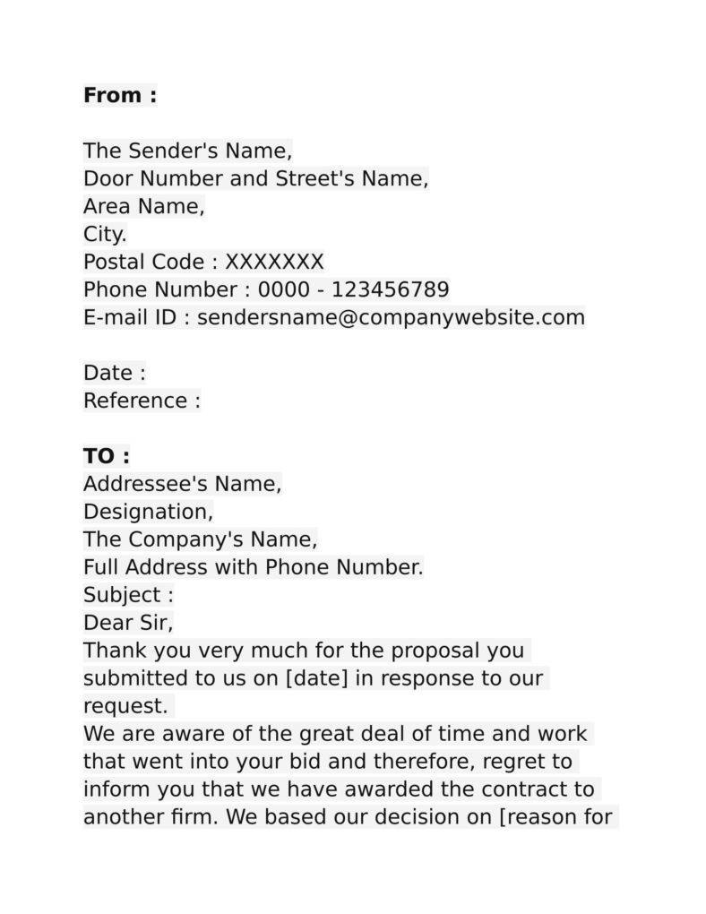 Business Proposal  Pdf Word  Free  Premium Templates With Regard To Proposal Rejection Letter Template