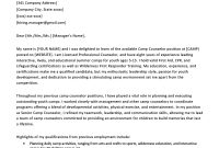 Camp Counselor Cover Letter Sample  Tips  Resume Genius with Letter Of Counseling Template