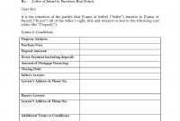 Canada Letter Of Intent To Purchase Real Estate  Legal Forms And for Letter Of Intent For Real Estate Purchase Template