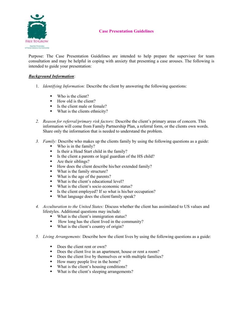 Case Presentation Format Pertaining To Case Presentation Template