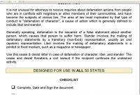 Cease And Desist Letter For Defamation Of Character Template Uk for Cease And Desist Letter Template Defamation