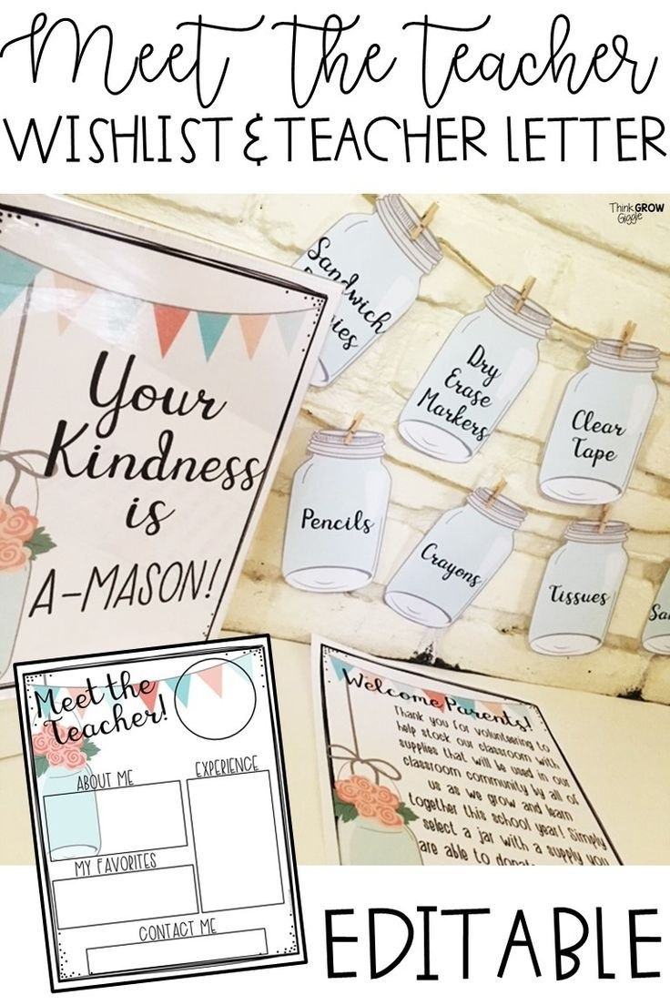 Classroom Wish List And Meet The Teacher Templates  Editable  All In Meet The Teacher Letter Template