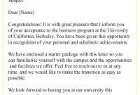 Collegeacceptanceletter  Best Letter Template pertaining to College Acceptance Letter Template