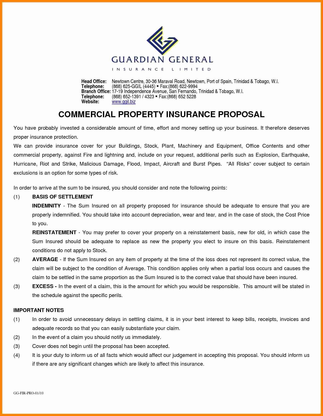 Commercial Insurance Proposal Template Elegant Mercial Proposal For Insurance Proposal Template