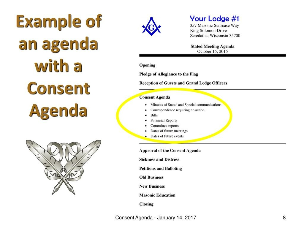Consent Agenda  January  Ppt Download Regarding Consent Agenda Template