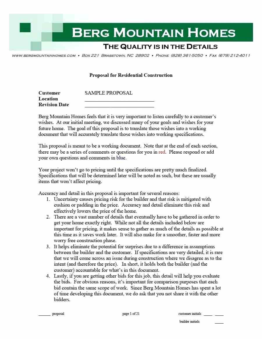 Construction Project Management Proposal Template Free With Project Management Proposal Template