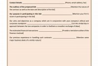 Construction Proposal Template  Construction Bid Forms intended for Free Contractor Proposal Template