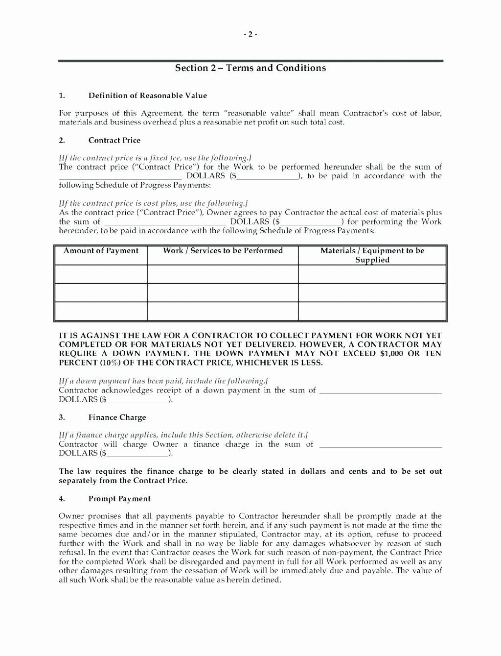 Contractor Proposal Template Pdf  Mathosproject Regarding Plumbing Proposal Template