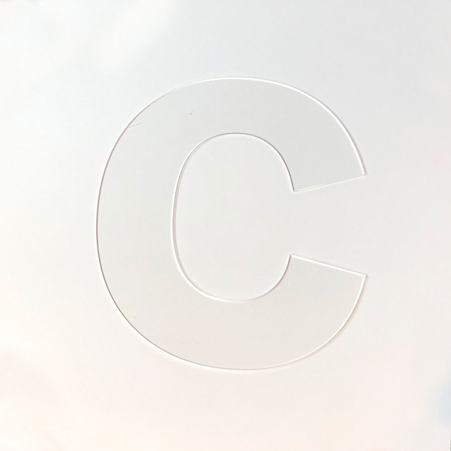 Cookie Cake Stencil Letter C Cookie Cake Lasercut  Etsy For Large Letter C Template