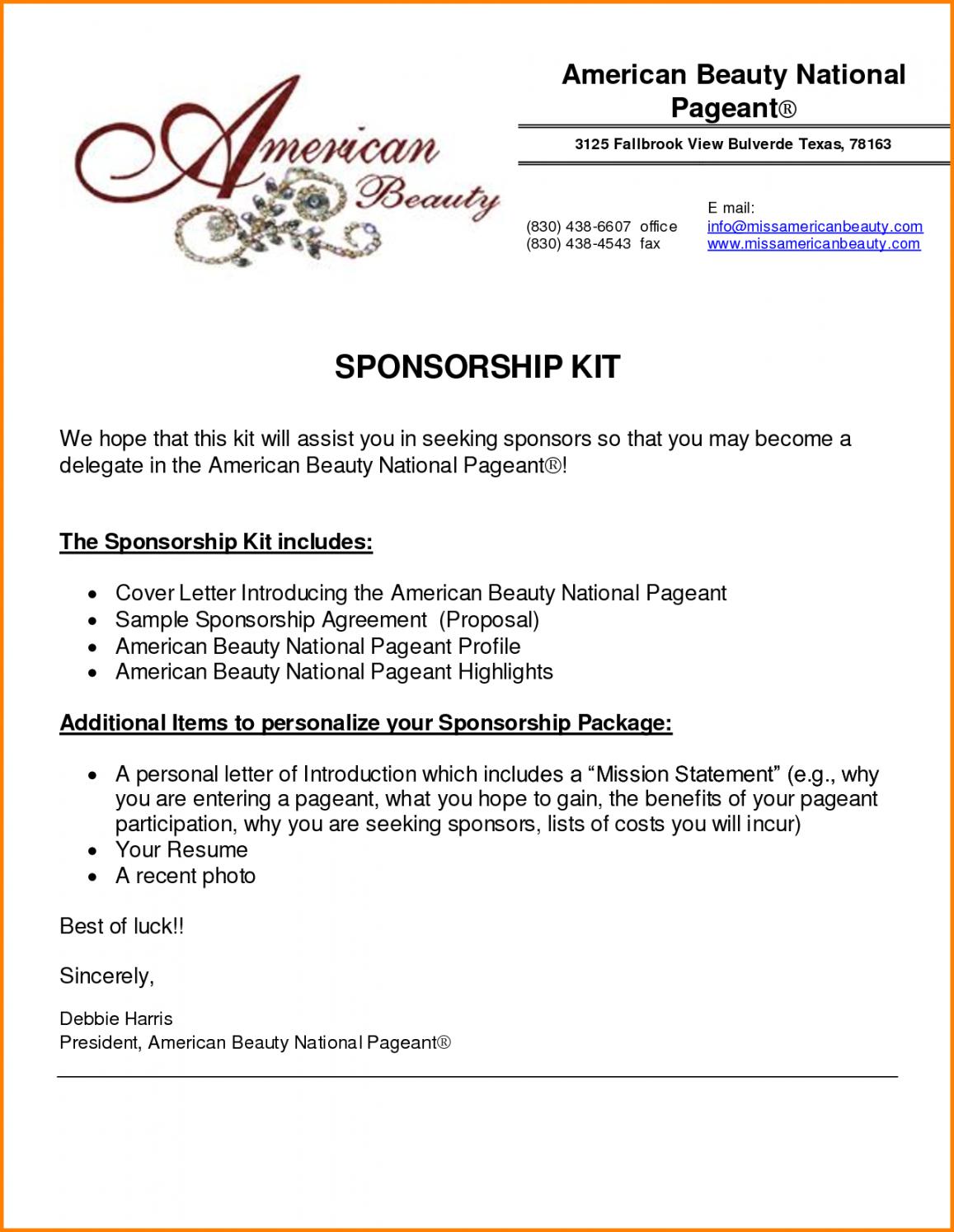 Corporate Sponsorship Proposal Template Inside Corporate Sponsorship Proposal Template