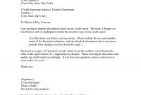 Credit Dispute Letter Gplusnick – Cover Letter Template Design pertaining to Credit Dispute Letter Template