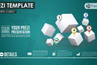 D White Cubes Prezi Template  Prezibase in Prezi Presentation Templates