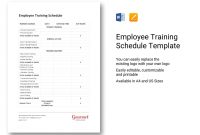 Daily Training Schedule Template Army Exercise Plan Excel  Smorad within Training Agenda Template