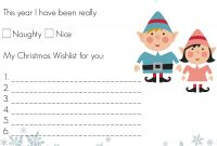 Dear Santa Template Kindergarten Letter  Istanbul Conference within Dear Santa Template Kindergarten Letter