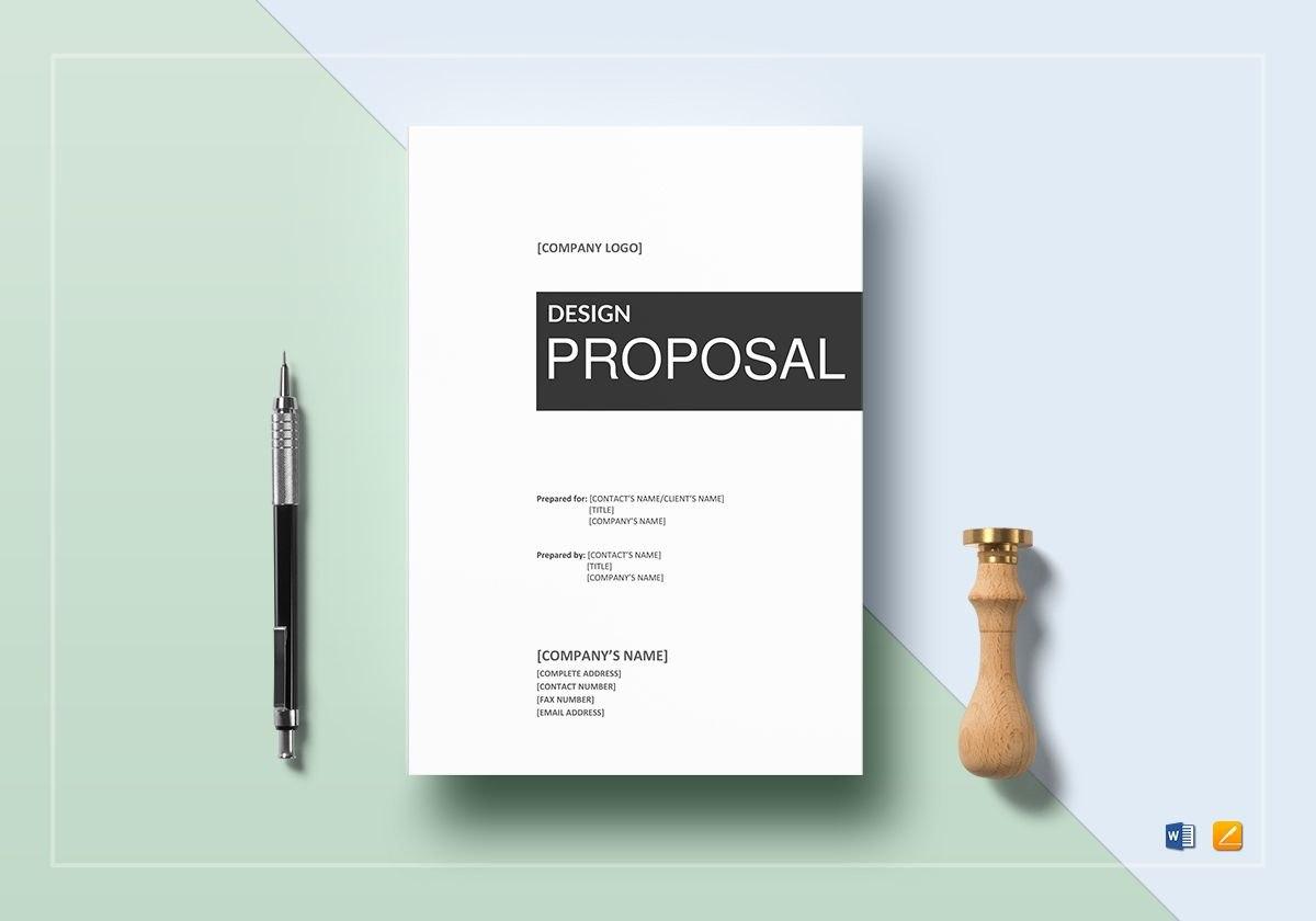 Design Proposal Template Regarding Graphic Design Proposal Template