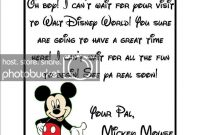 Disney Welcome Letter Template – Mangtab pertaining to Disney Letter Template