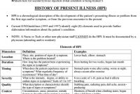 Documenting A History  Pdf within History Of Present Illness Template