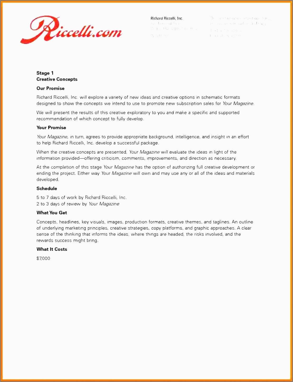 Elegant Free Advertising Proposal Template  Best Of Template with regard to Advertising Proposal Template
