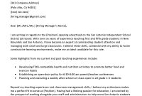 Elementary Teacher Cover Letter Example  Writing Tips  Resume Genius with Open When Letters Template