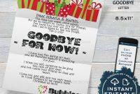 Elf Goodbye Letter Editable Elf Letter Template Custom Santa  Etsy in Elf Goodbye Letter Template