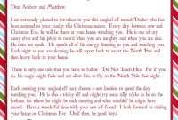 Elf On A Shelf Adventures  Welcome Letter  My Kids  Elf On Shelf throughout Elf On The Shelf Letter From Santa Template