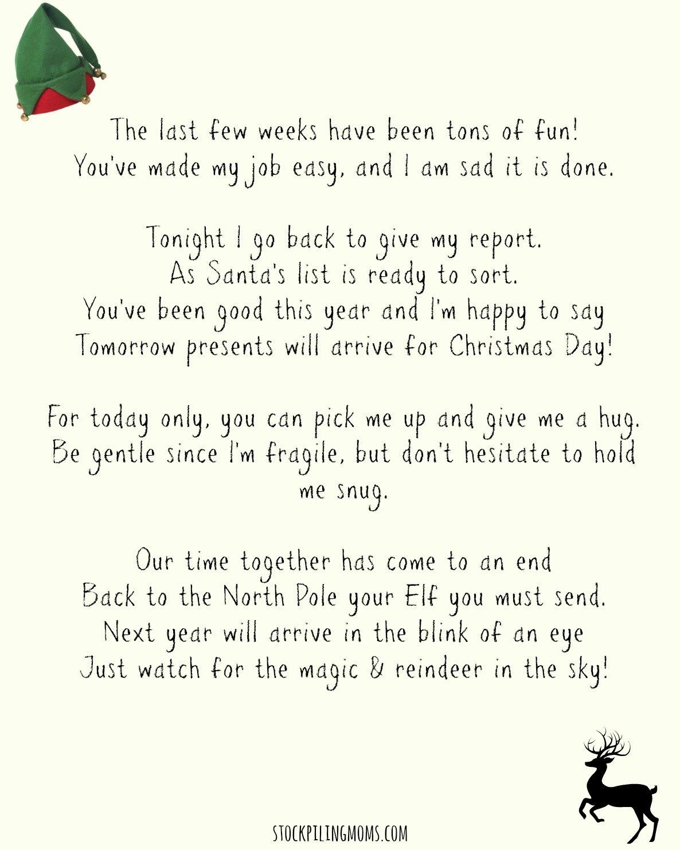 Elf On A Shelf Goodbye Letter Printable  Stockpiling Moms™ For Elf Goodbye Letter Template