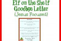 Elf On The Shelf Farewell Letter Printable  Elf On The Shelf  Elf pertaining to Elf Goodbye Letter Template