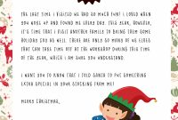 Elf On The Shelf Goodbye Letter  Free Printable for Goodbye Letter From Elf On The Shelf Template