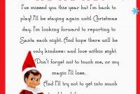 Elf On The Shelf Letter Free Printable  Christmas  Elf On The with regard to Elf On The Shelf Arrival Letter Template