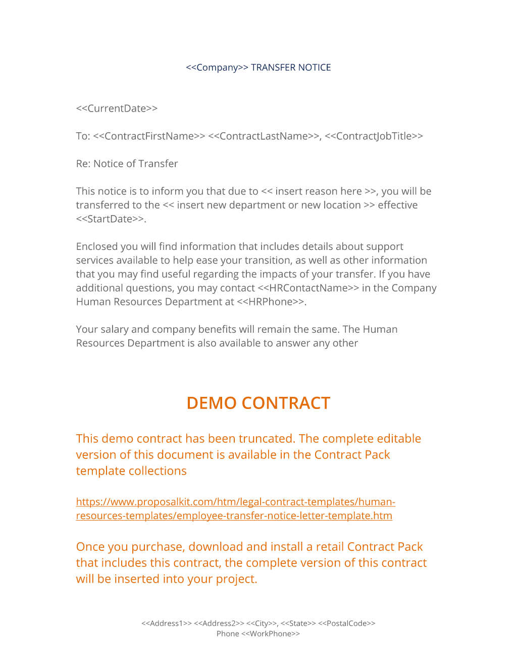 Employee Transfer Notice Letter   Easy Steps With Internal Transfer Letter Template