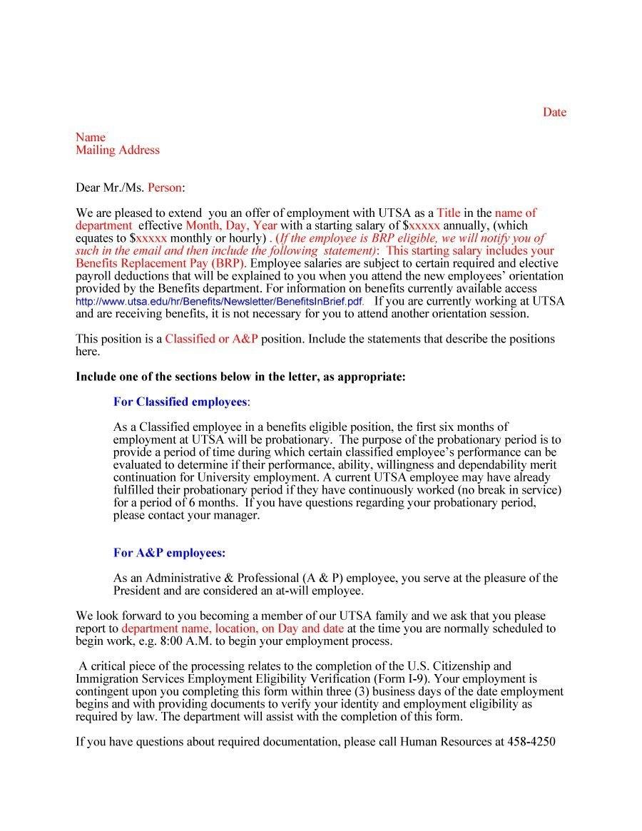 Fantastic Offer Letter Templates Employment  Counter Offer  Job In Counter Offer Letter Template