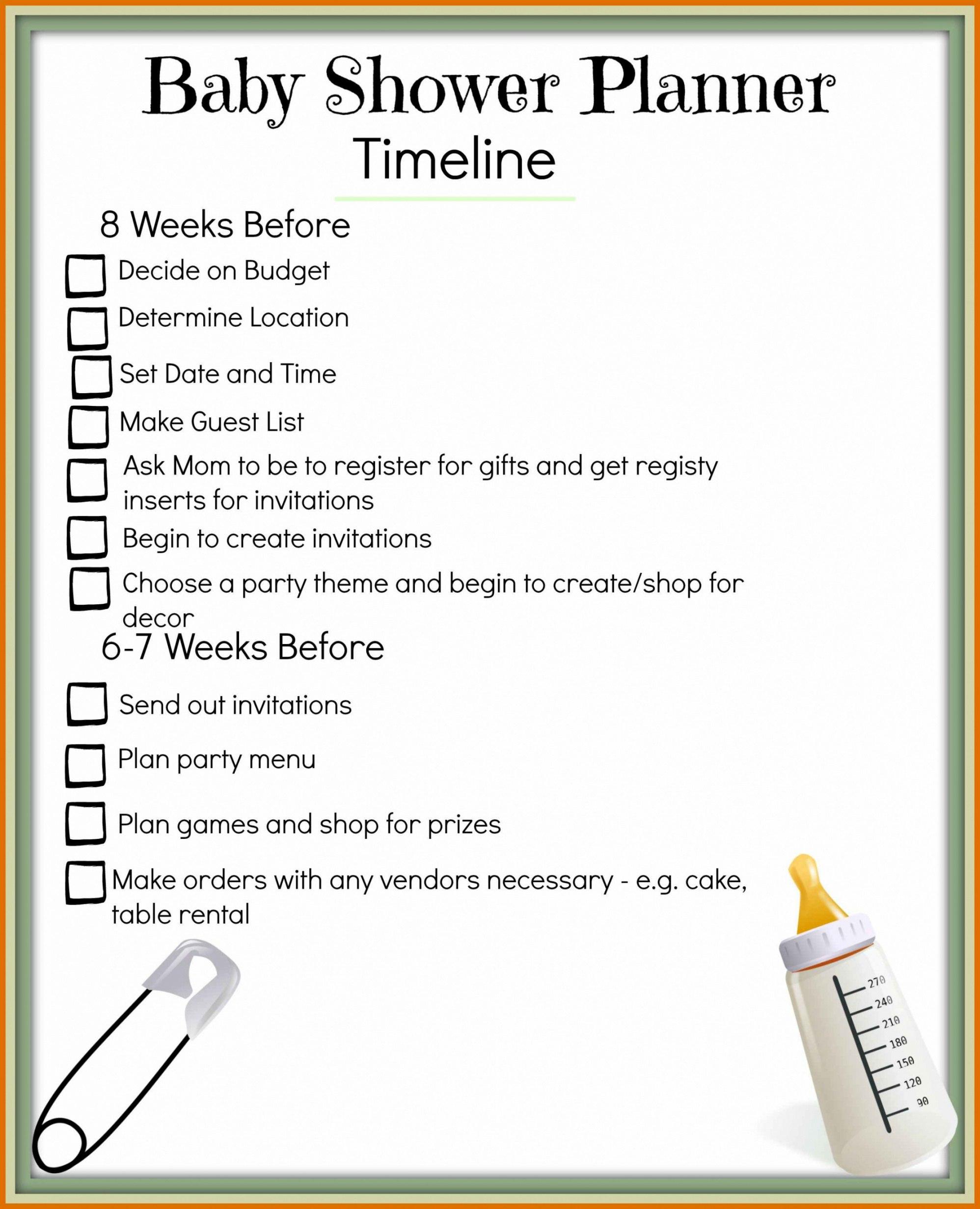 Free  Baby Shower Agenda Titleletter Baby Shower Agenda Template Throughout Baby Shower Agenda Template