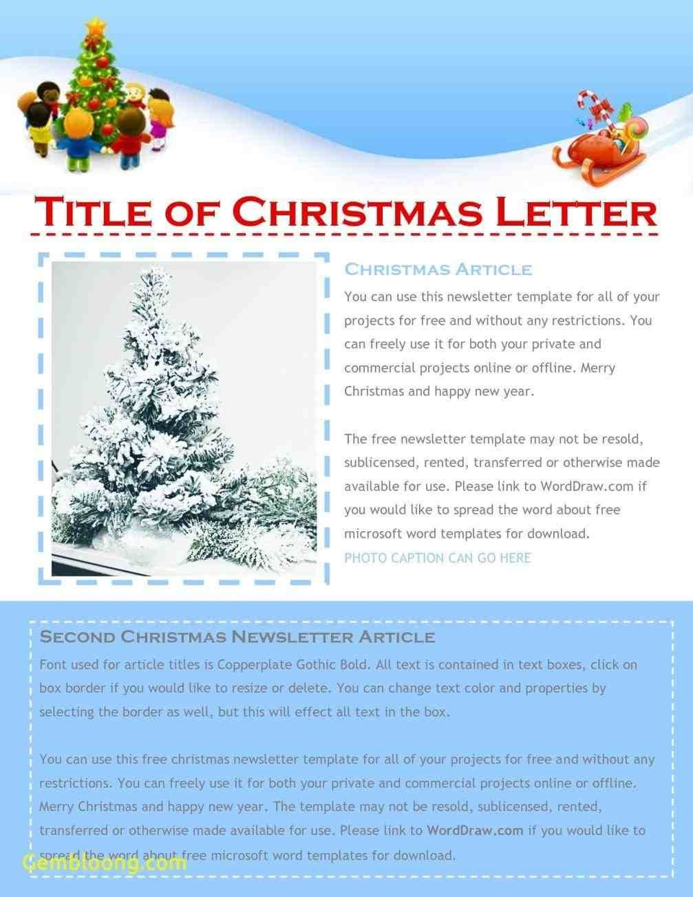 Free Christmas Newsletter Templates  Xmast Decors  Newsletter Throughout Christmas Letter Templates Microsoft Word