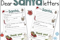 "Free Christmas Printables  ""dear Santa"" Letters ⋆ Mama Geek with Dear Santa Letter Template Free"