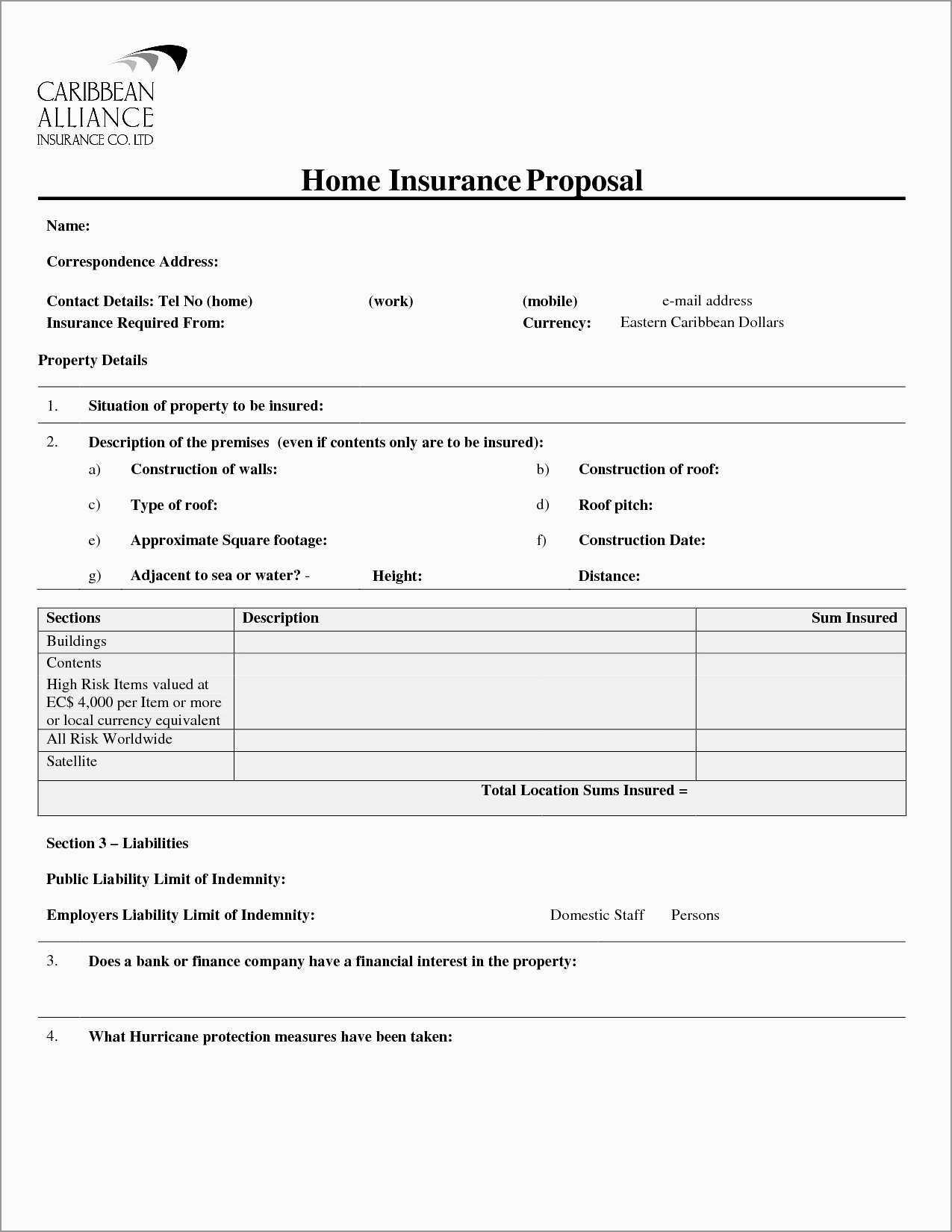 Free Commercial Insurance Proposal Template Admirably  Proposal Intended For Insurance Proposal Template