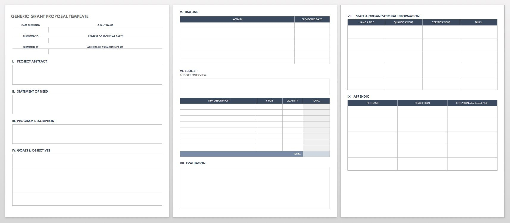 Free Grant Proposal Templates  Smartsheet Within Grant Proposal Template Word