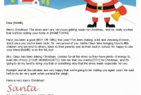Free Letters From Santa  Santa Letters To Print At Home  Gifts in Free Printable Letter From Santa Template