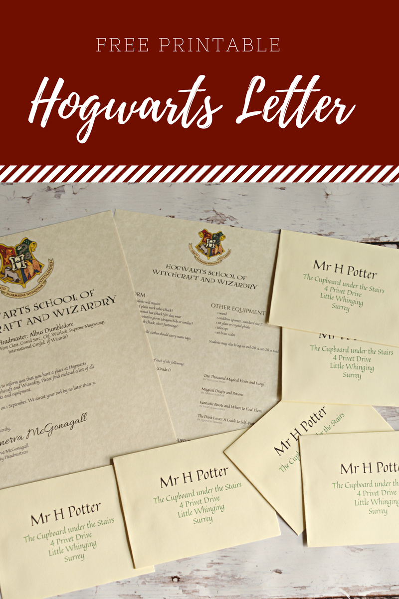 Free Printable Hogwarts Letter  Housewife Eclectic Regarding Harry Potter Letter Template