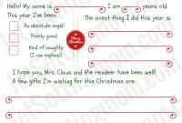 Free Printable Letter To Santa Template  Writing To Santa Made Easy with regard to Free Letters From Santa Template
