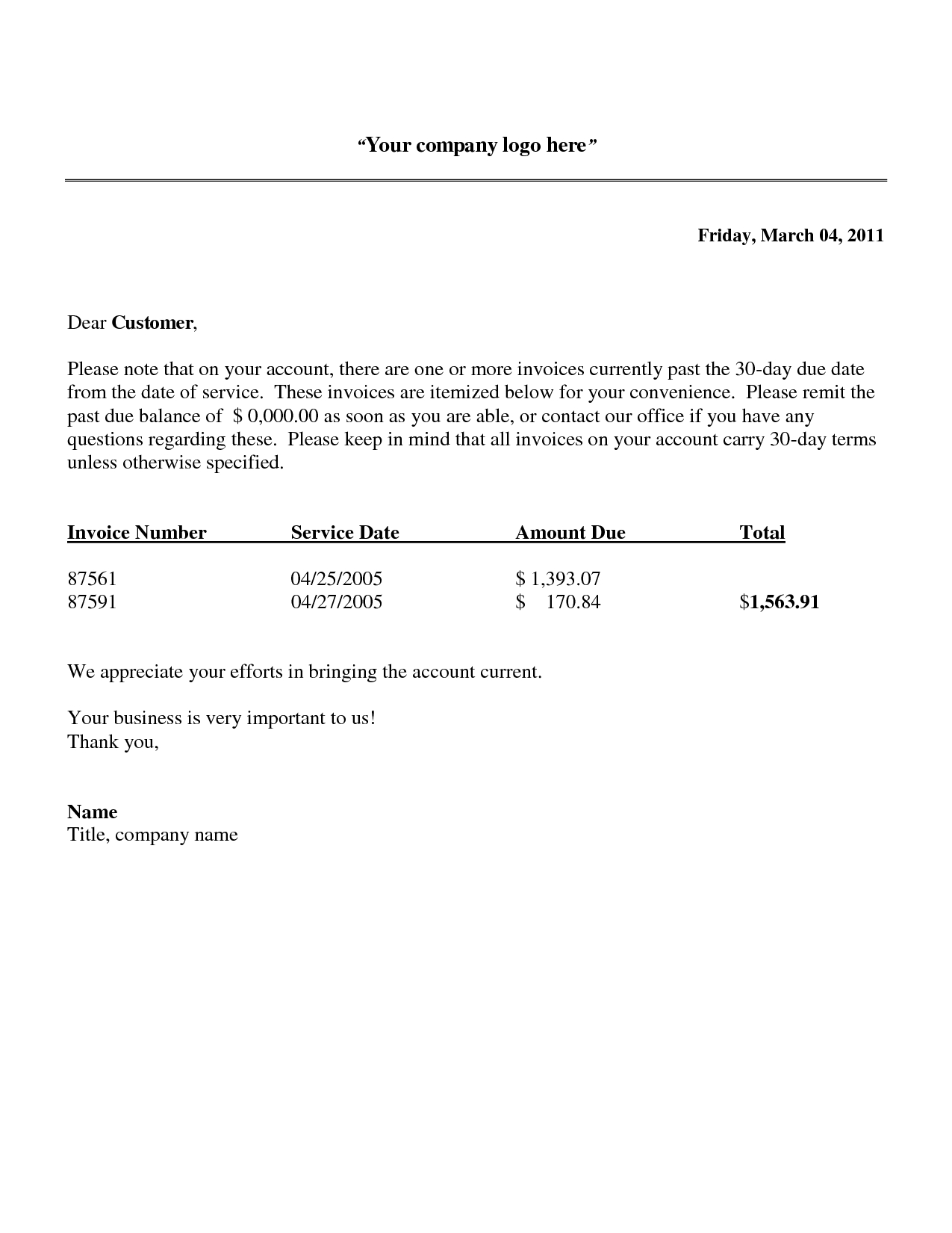 Free Printable Past Due Invoice Reminder Letter Template  Violeet In Past Due Letter Template