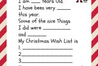 Free Printable Santa Letters For Kids  Holiday Ideas Christmas in Dear Santa Template Kindergarten Letter