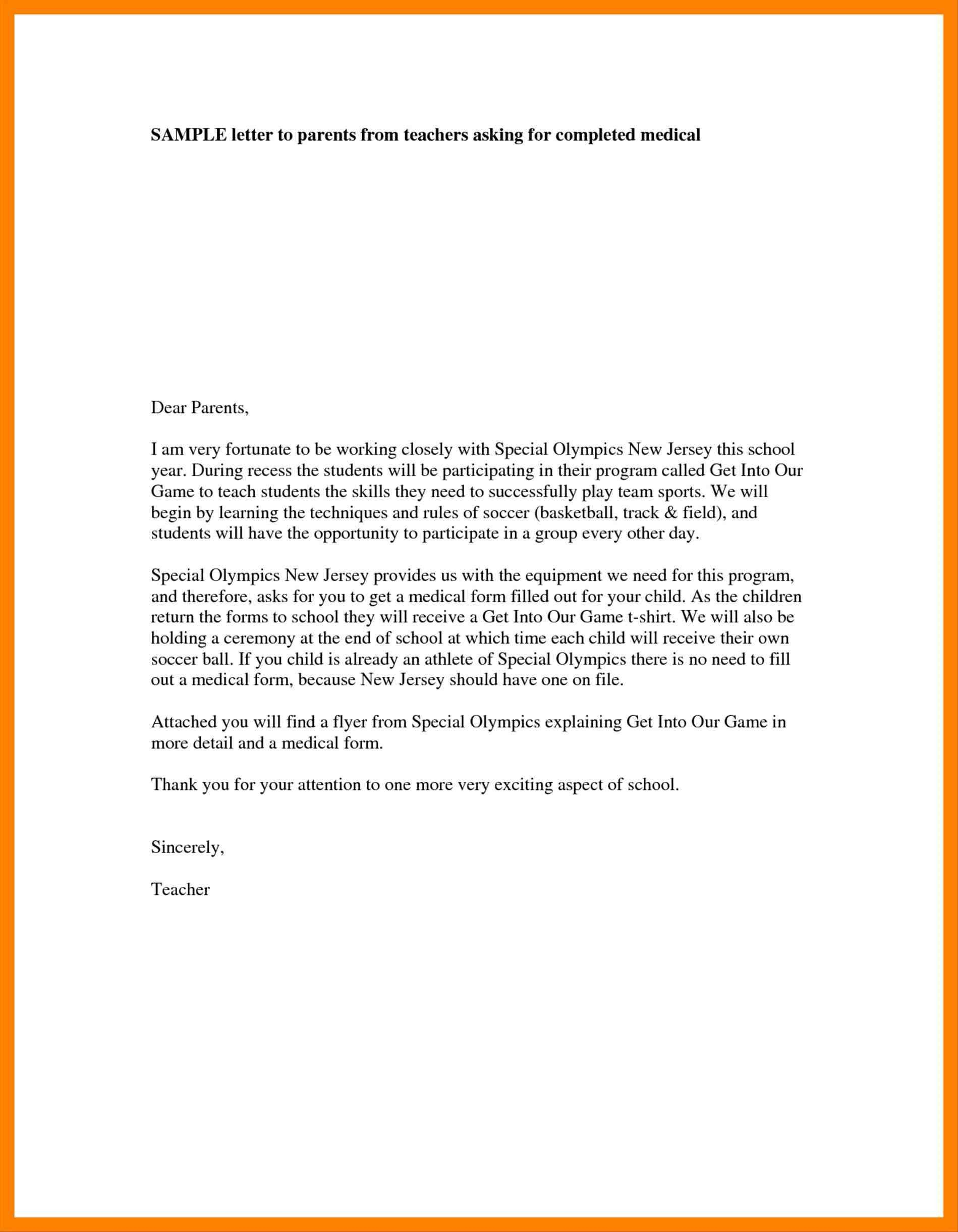 Free Templates Sample Welcome Letter To Parents From Teacher For Letter To Parents Template From Teachers